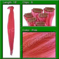 Pro Extensions Pink Highlight Streak Pack Remi Human Hair Graded A+