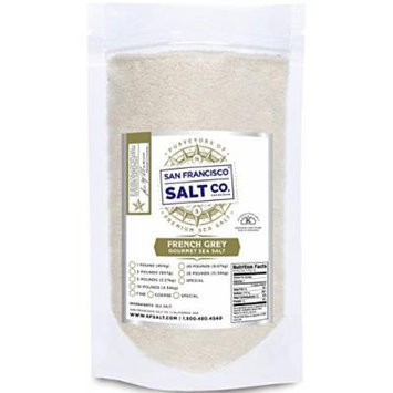 French Grey Sea Salt, pure & natural sea salt from the Celtic Region of France (1lb Fine Grain)