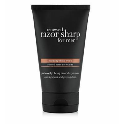 philosophy renewed razor sharp for men cleansing shave cream, 5 fl. oz