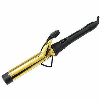 Plugged In 1 1/4 Inch Professional Gold Curling Iron