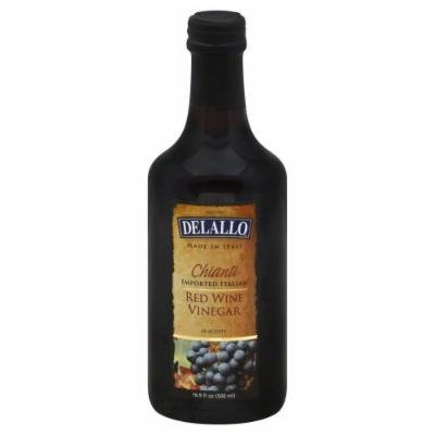 Delallo Vinegar Imprtd Itln Red W -Pack of 12
