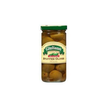 Giuliano Jalapeno Stuffed Olives 5 OZ (Pack of 6)