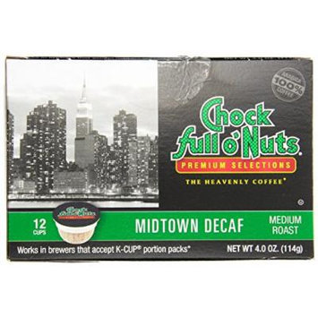 Chock Full o'Nuts Midtown Decaf Single-Serve Cups, 72 Count