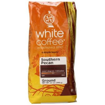 White Coffee Ground Coffee, Southern Pecan, 12 Ounce