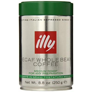 Illy Decaffeinated Whole Bean Coffee, Green Top, 6 Count