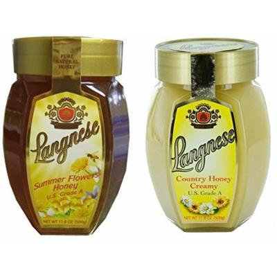 (Pack of 2) Assorted Langnese Country Creamy and Summer Flower Honey (Glass Jars) 17.6oz / 500 gr