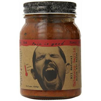Pain Is Good Habanero Garlic Salsa Sauce, 15.5 Ounce