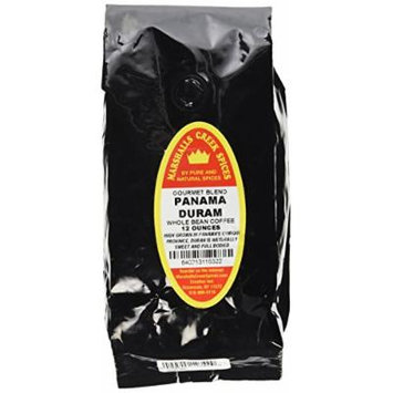 Marshalls Creek Spices Gourmet Whole Bean Coffee, Panama Duran, 12 Ounce