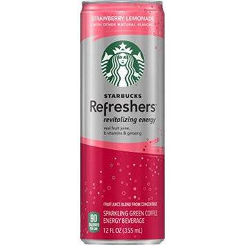 Starbucks Refreshers, Strawberry Lemonade, 12 Ounce Sleek Cans (Pack of 12)