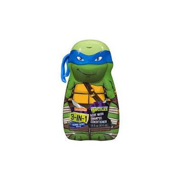 Teenage Mutant Ninja Turtle 3 in 1 Body Wash, Shampoo & Conditioner-14 oz (Blue)