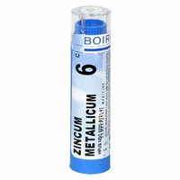 Boiron Homeopathic Medicine Zincum Metallicum, 6C Pellets, 80-Count Tubes (Pack of 5)