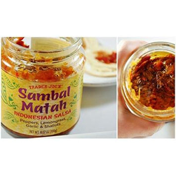 Trader Joe's Sambal Matah Indonesian Salsa, 10.57 oz. Jar (Pack of 2)