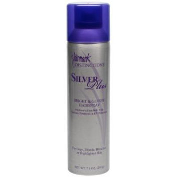 Jhirmack Distinctions Silver Plus Bright & Glossy Hairspray ~ Medium to Firm Hold 7.1oz ~ (Quantity 1)