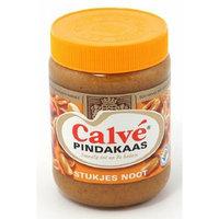 Calve Pindakaas met Noot (Peanut Butter with Chunks of Nuts) 3 Jars x ea 12.3oz/350gr