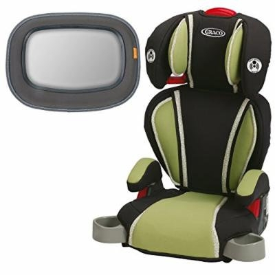 Graco Highback TurboBooster Booster Car Seat, Go Green with Baby In-Sight Mirror