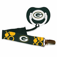 NFL Officially Licensed Orthodontic Pacifier With Clip (Green Bay Packers)