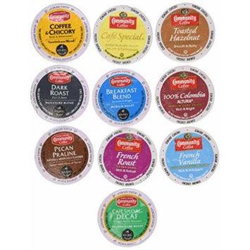 30 Community Coffee Single Serve Cups, 10 Unique Varieties. Try Them All! ..... Pecan Prailine, Chickory, Dark Roast+