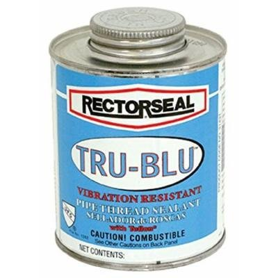 Rectorseal 31553 Brush Top Tru-Blu Pipe Thread Sealant, 1/2 pint