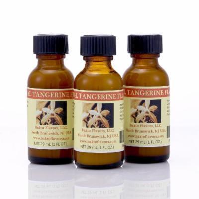 Bakto Flavors Natural Tangerine Flavor Emulsion - 1 FL OZ - Pack of 3
