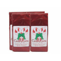Candy Cane Coffee, Ground (Case of Four 12 ounce Valve Bags)
