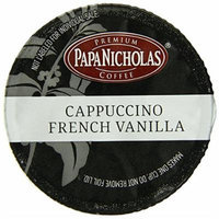 PapaNicholas Coffee Single Serve Coffee Cups Fits Keurig K Cup Brewers, Cappuccino, 12 Count