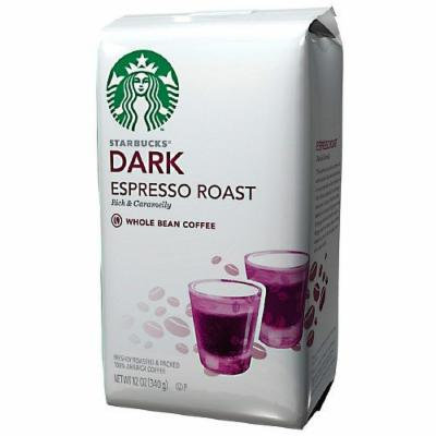 Starbucks Coffee Dark Roast, Espresso, Whole Bean 12 oz