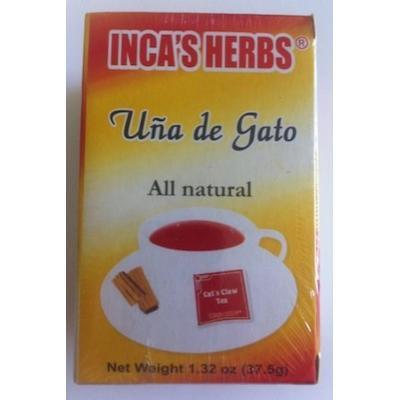 Inca's Herbs Uña De Gato (Cat's Claw Tea) 25 Tea Bags 1.32oz 16 Pack
