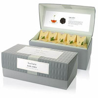 Tea Forte Presentation Box with 20 Handcrafted Pyramid Tea Infusers - Earl Grey Black Tea