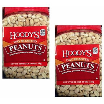 Hoodys Dry Roasted Peanuts with Sea Salt, 42 Oz (2 Packs)