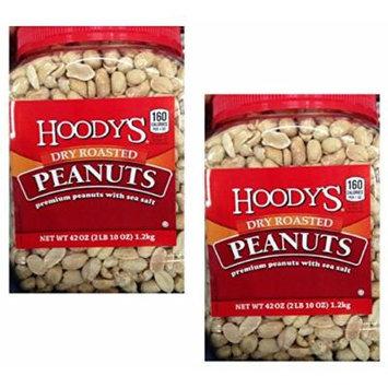 Hoodys Dry Roasted Peanuts with Sea Salt, 42 Oz (2 Packs)