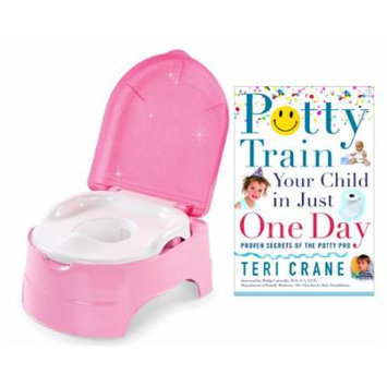 Summer Infant My Fun Potty with Potty Train Your Child in Just One Day Guide Book, Pink