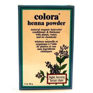 Colora Henna Veg-Hair Light Brown 2 oz. (3-Pack) with Free Nail File