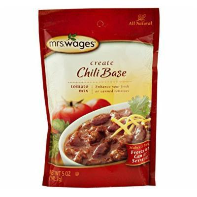 Mrs. Wages Chili Base Tomato Seasoning Mix, 5 Oz. Pouch (Case of 12)