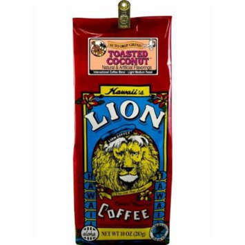 Hawaii Lion Flavored Coffee 10 oz. Ground Toasted Coconut