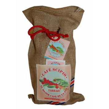 Cafe Scipio Whole Bean Coffee with Jute Bag, Medium Roast, 1-Pound Bag