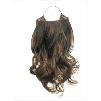 Hidden Halo Synthetic 18 Inch Curly (6/613 Medium Brown/Light Blonde High Lights)