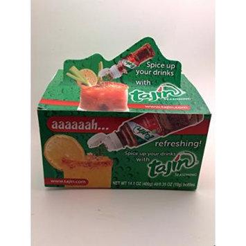 Tajin Clasico Seasoning with Lime 40 Minis to Go, Case of 40/.35 Oz. Bottles