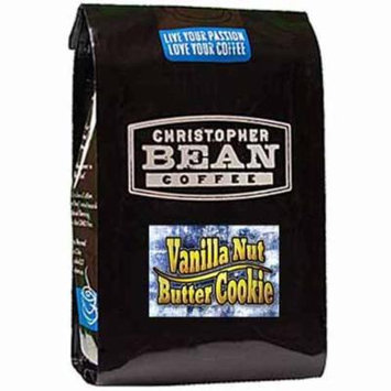 Christopher Bean Coffee Decaffeinated Whole Bean Flavored Coffee, Vanilla Nut Butter Cookie, 12 Ounce