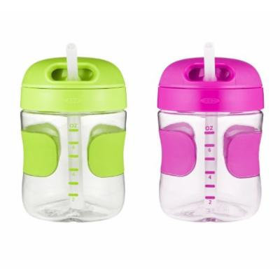OXO Tot 7 oz Straw Cup, 2 Pack - Green/Pink