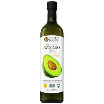 Chosen Foods 100% Avacado Cooking Oil - 1ltr Bottle (33.8fl) (4 Bottles)