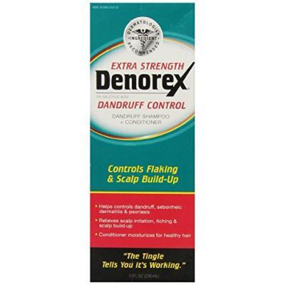Denorex Extra Strength Dandruff Control Shampoo + Conditioner 10 Oz (4 Pack)