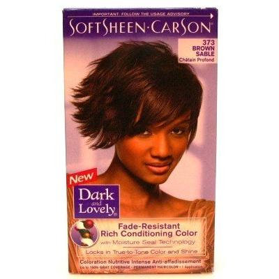 Dark & Lovely Color #373 Brown Sable (3-Pack) with Free Nail File