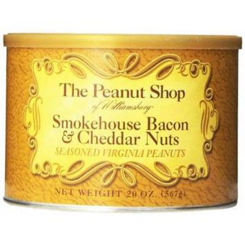 The Peanut Shop of Williamsburg Seasoned Peanut Tin, Smokehouse Bacon and Cheddar, 20 Ounce
