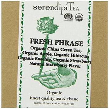 SerendipiTea Fresh Phrase, Organic Strawberry, Hibiscus, Apple, Rose Hips & China Green Tea, 4 Ounce Box