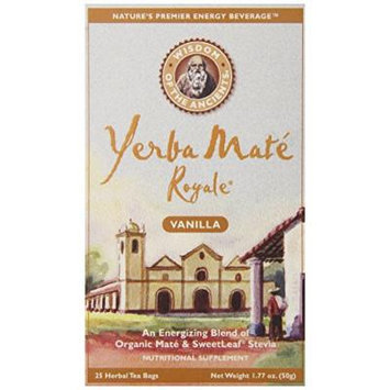 Wisdom of the Ancients Yerba Mate Royale Tea, Vanilla, 25 Teabags (Pack of 6)