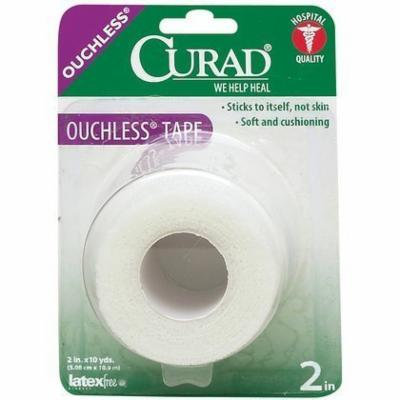Curad Ouchless Self-Adhering Stretched First-Aid Tape, 2 Inch x 2.3 Pack of 5