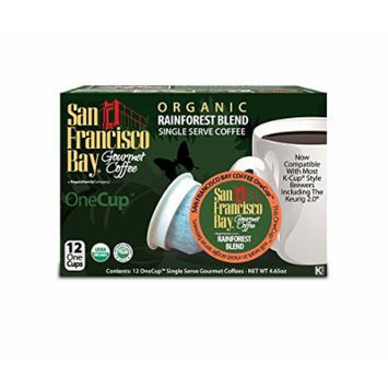 San Francisco Bay OneCup, Organic Rainforest Blend, 12 Single Serve Coffees (Pack of 3)