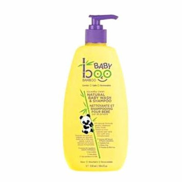 Boo Bamboo Baby Wash and Shampoo, Squeaky Clean, 18.6 Fluid Ounce