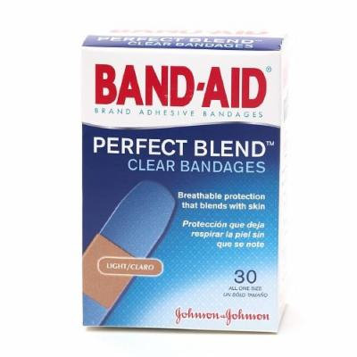 Band-Aid Clear Perfect Blend Clear Bandages, One Size 30 ea