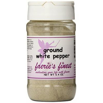 Faeries Finest Ground White Pepper, 5.40 Ounce